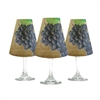Wine Tasting Red Grape White Wine Glass Shades Set of 6 - di Potter
