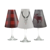 Merry & Bright White Wine Glass Shades  Set of 6 by di Potter. Great for a holiday party or to decorate your mantel. Buffalo plaid pattern paper vellum new collection for use with wine glasses and flameless tea lights