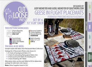 Cut Loose Press Geese in Flight Placemats and Charm Elements Pack #2