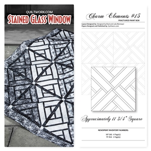 Cut Loose Press Quiltworx Stained Glass Window and Charm Elements Pack #15