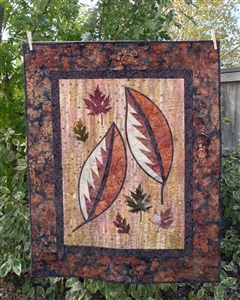 Cut Loose Press ~ Scattered Leaves Wall Hanging and Four: Quiltworx.com Leaf Series