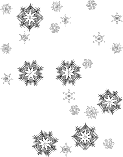 Ice Crystals Snowflake Package