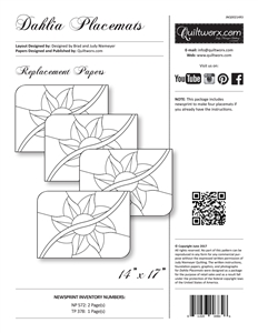 Dahlia Placemats Replacement Papers