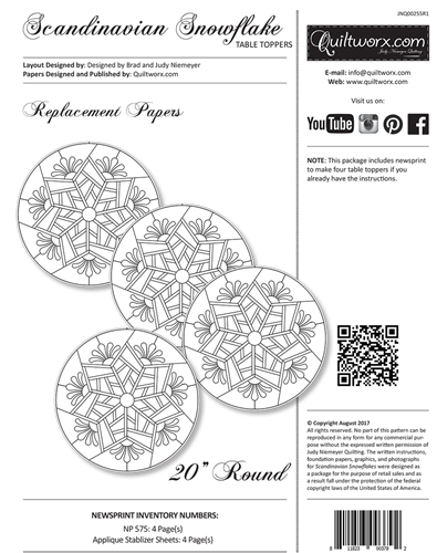 Scandinavian Snowflake Replacment Papers