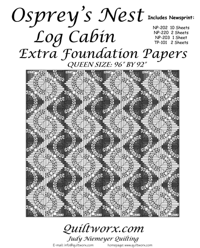 Osprey's Nest Log Cabin Extra Foundation Papers - Queen Size