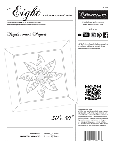 Eight ~ Quiltworx.com Leaf Series Replacement Papers