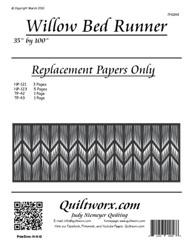 Willow Bed Runner Replacement Papers