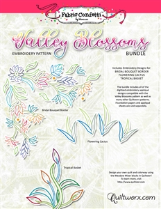 Valley Blossoms Bundle Machine Embroidery - Digitial Download