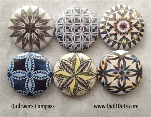 Set of 6 Compass Bookmarks