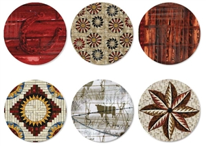 Quiltworx Reclaimed West II Collection of 6 Pins