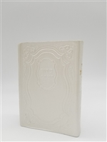Siddur Tehillat Hashem with Tehillim Antique Leather -White