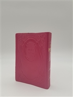Siddur Tehillat Hashem with Tehillim Antique Leather -Dk. Pink