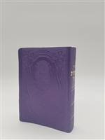 Siddur Tehillat Hashem with Tehillim Antique Leather -Purple