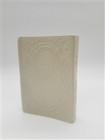 Siddur Tehillat Hashem with Tehillim Antique Leather -Off White
