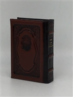 Hard Covered Leather Siddur Tehillat Hashem Annotated H/E Brown
