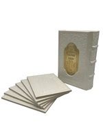 Leather Zemiros Holders with Gold Plate- 6 Chabad Benchers