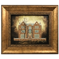 Chabad House 770 Painting on Canvas- Vintage Style