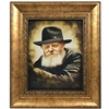 Chabad Lubavitch Rebbe Painting on Canvas- Vintage Style Portrait
