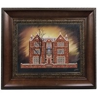 Chabad House 770 Painting on Canvas- Antique Style