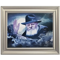 Chabad Lubavitch Rebbe Painting on Canvas- Light in the Dark