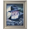 Chabad Lubavitch Rebbe Painting on Canvas- Light in the Dark Portrait