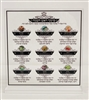 Lucite Simanim Tabletop Stand for Rosh Hashana- Square