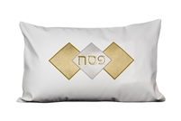Leather Pesach Seder Pillow Gold Diamond Design