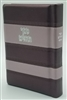 Leather Tehillim, Stripe Design- Metallic Purple