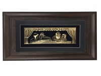 Veharev Na Gold Art Wall Frame 18x32, Brown Frame