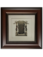 Birkat Ha'Rofeh Blessing for Doctors Gold Art 16x16 Brown Frame
