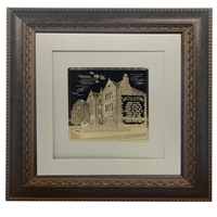 Picture of 770 with Birkat Habayit Gold Art 20x20 Brown Frame