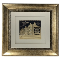 Picture of 770 with Birkat Habayit Gold Art 22x22 Bronze Frame