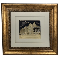Picture of 770 with Birkat Habayit Gold Art 22x22 Gold Frame