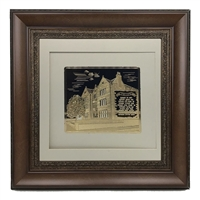 Picture of 770 with Birkat Habayit Gold Art 22x22 Brown Frame
