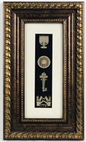 Set Hayeshuot Gold Art with Gold Frame