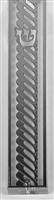 Mezuzah Case Silver Plated- 15 cm scroll