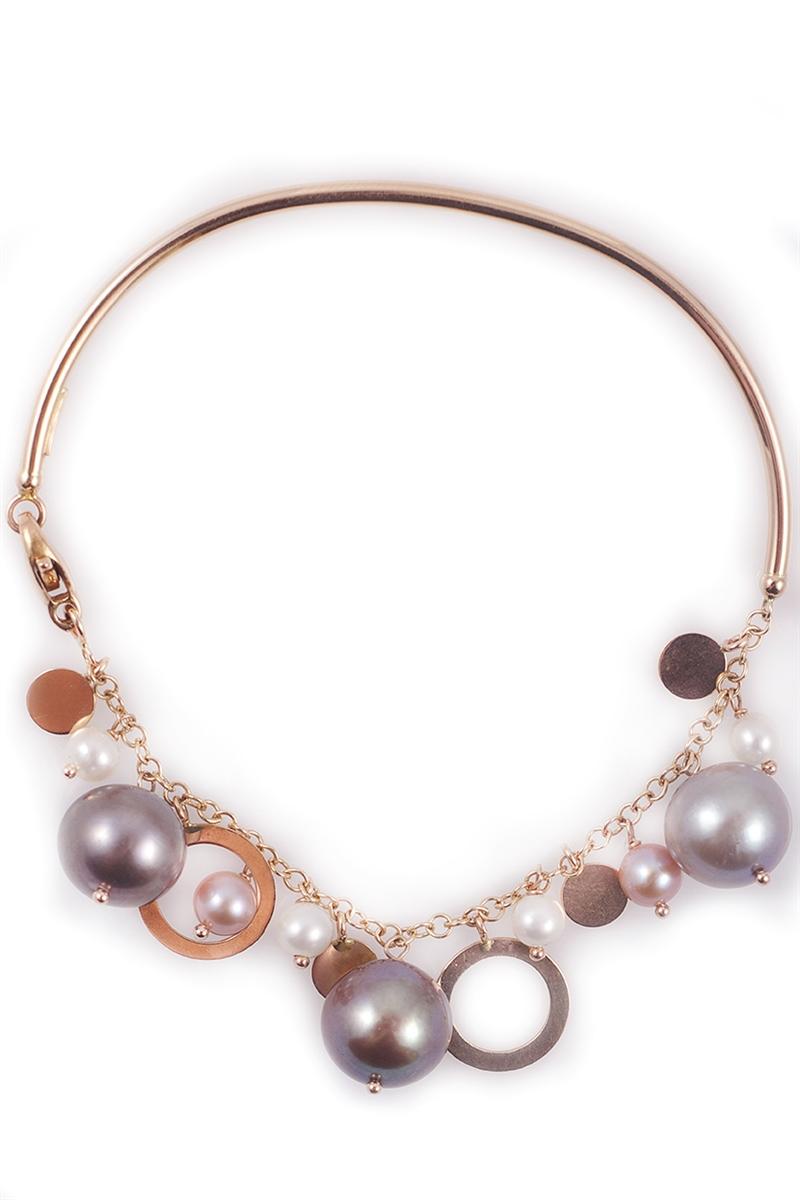 Charm Bangle Bracelet 18k Rose Gold