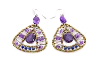 Ziio's Aton Drop Earring in Amethyst Gemstones