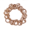 Fun & dimension Chain Link Bracelet in Rose Gold plated Sterling Silver.  Made in Italy by Anticoa.