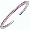 Rhodolite Garnet Bangle Bracelet in Sterling Silver