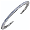 Swiss Blue Topaz Bangle Bracelet in Sterling Silver