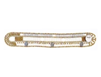 From Ziio's Fenice Collection - this Cuff Bracelet features warm hues of Silver with White. Mother of Pearl,White Pearls & shimmering Labradorite gemstones are in this linear design. Made with Golden Murano Glass Beads on Stainless Steel Wire.