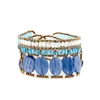 Blue Kyanite & Zircon Gemstone Bracelet by Ziio