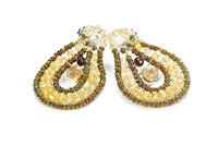 Yellow Zircon & Citrine Oval Drop Earring by Ziio