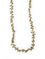 Long Smokey Quartz Gemstone Necklace, 14K Gold