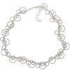 White Sterling Silver Circle Necklace by Frederic Duclos