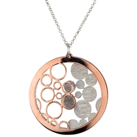 Two-Tone Bubble Pendant Necklace by Frederic Duclos