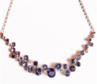 Sapphire, Tanzanite & Diamond Necklace