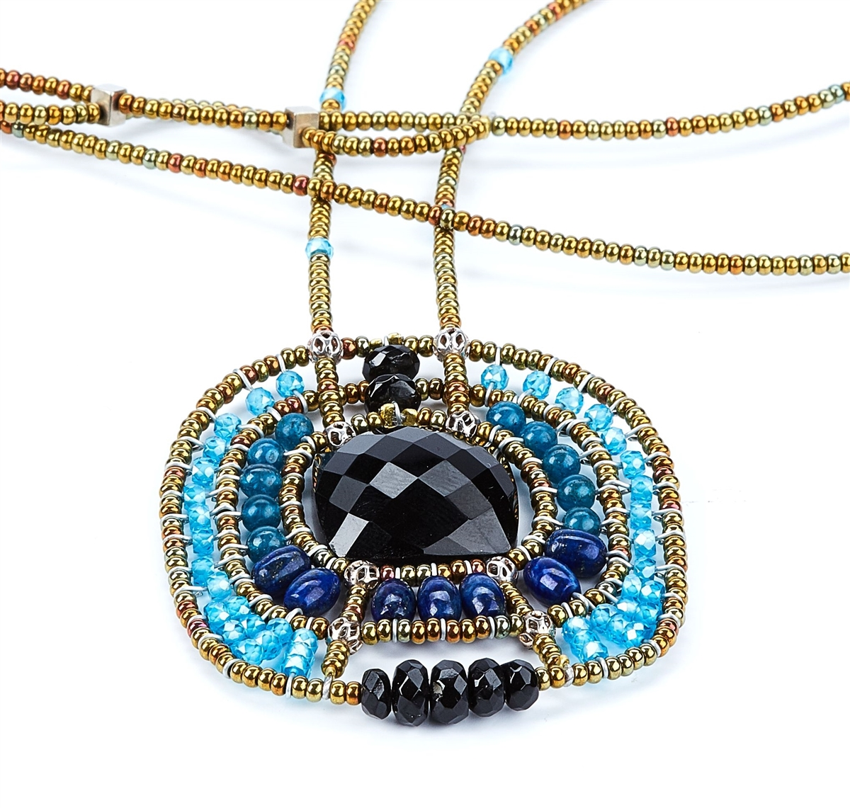 Pendant Necklace By Ziio In Onyx