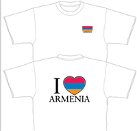 Adult Tshirt 3 - I love Armenia